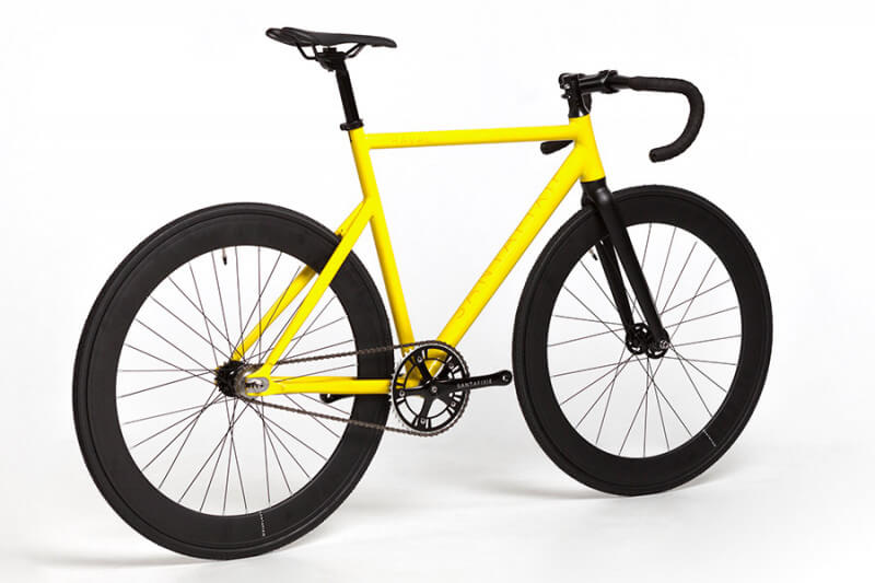 Santafixie Yellow Fixie Bike