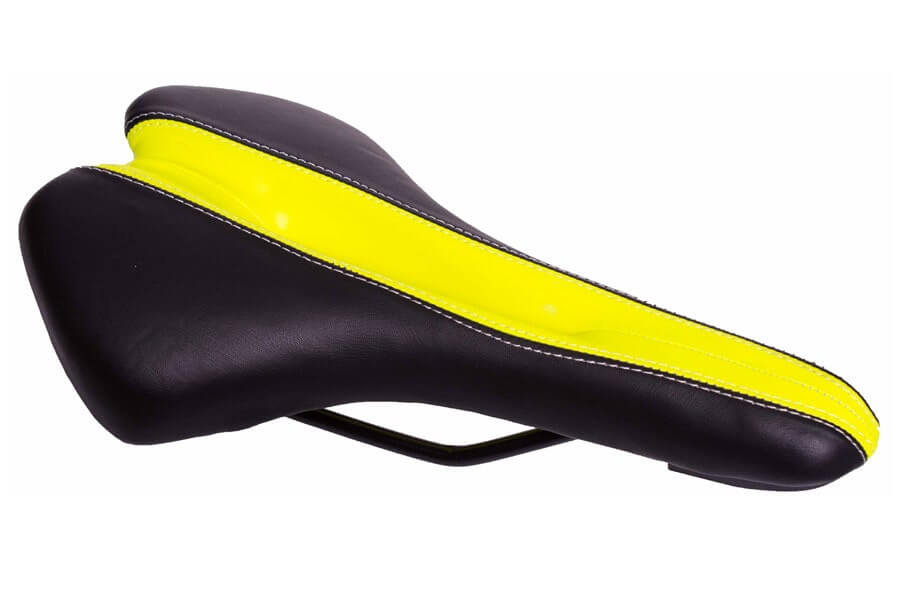 prostate-friendly FK E2013 Saddle - Black/Yellow
