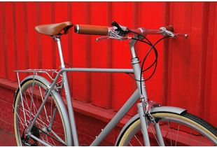 FabricBike City Classic 7 Speed Bicycle - Matte Grey