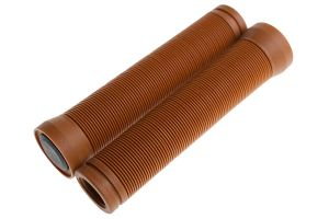 BLB Button Handlebar Grips - Brown