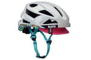 Bern FL-1 Pave Helmet - Satin Light Grey w/ visor