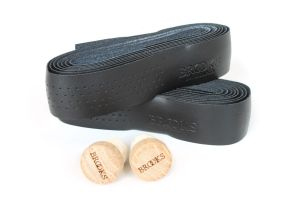 Brooks Leather Bar Tape - Black