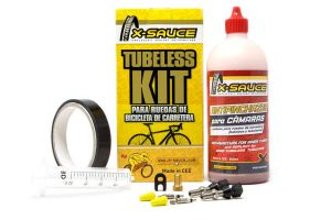 X-Sauce Tubeless Kit for 2 Road Wheels - Presta