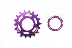 Fixed Sprocket 18t - Purple + Lockring