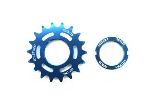 Fixed Sprocket 18t - Blue + Lockring