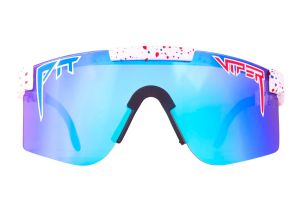 Pit Viper Absolute Freedom Polarized Double Wide Glasses - Blue