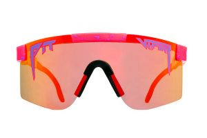 Pit Viper The Radical Polarized Double Wide Glasses - Red