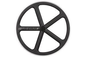 Encore 700C 5 Spoke Front Wheel - Black - Carbon Weave