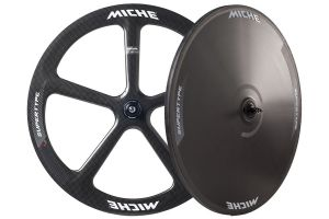 Miche Supertype Pista 50 Track Wheelset - Carbon