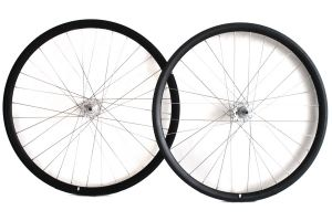 Dp18 Fixie Wheelset - Black/Silver