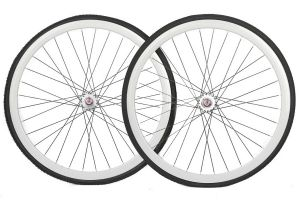 Santafixie 30mm Wheelset + Tyres - White