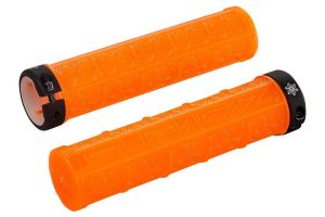 Supacaz Grizips Clear Handlebar Grips - Orange