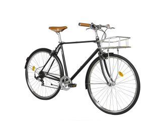 FabricBike City Classic 7 Speed Bicycle - Matte Black