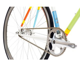 State X The Simpsons Color Block Fixie Bike