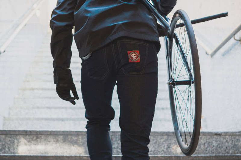 Belmez Face Darkside Skid cycling Jeans 1