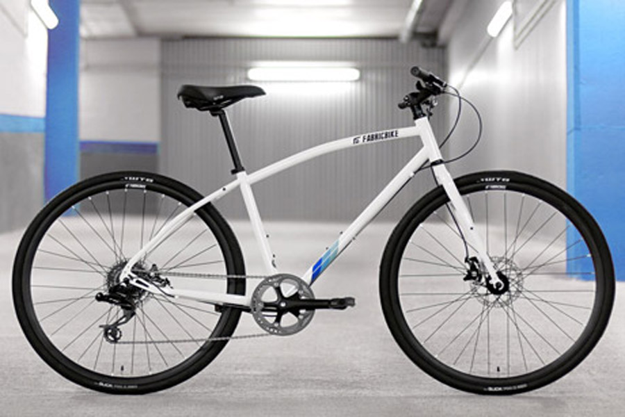 FabricBike Commuter Bicycle - White 1