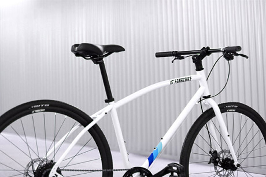 FabricBike Commuter Bicycle - White 3