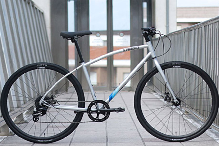 FabricBike Commuter Bicycle - Grey 1