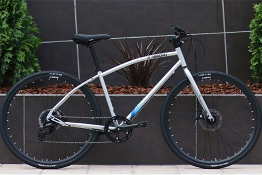 FabricBike Commuter Bicycle - Grey 2