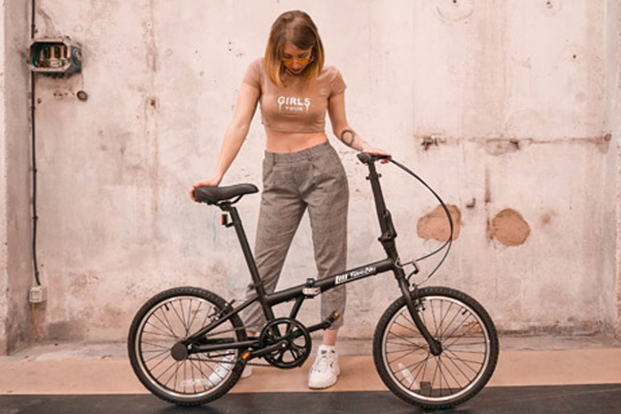 FabricBike Folding Bicycle - Matte Black 2