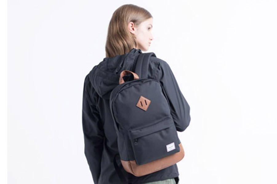 Herschel Heritage Navy Tan Mid-Vol Backpack 0d9b553148f83