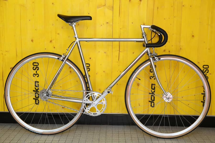 Bicicletta Single Speed Jitensha Chrome/Alu/Black 1