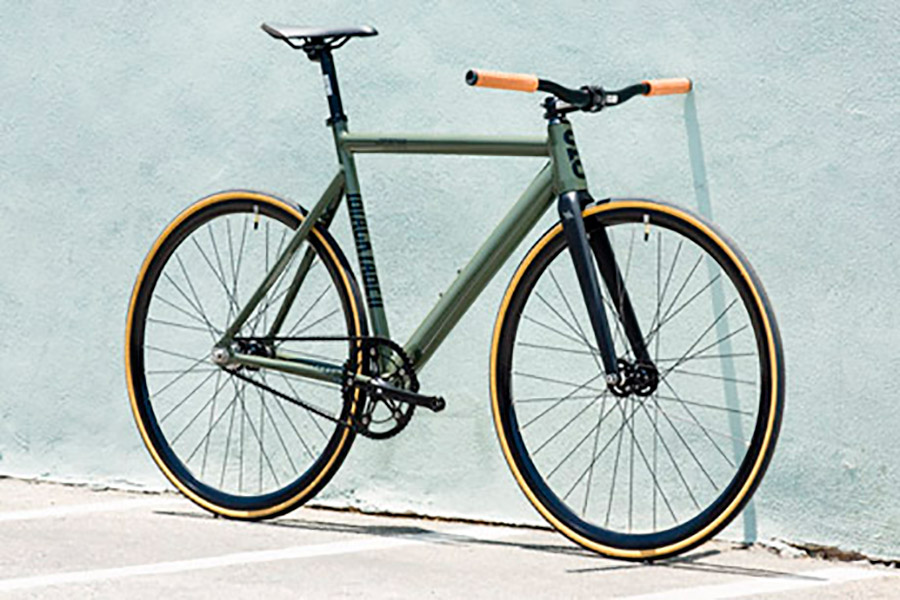 Bicicleta Fixie State Premium Black Label V2 Army Green 2