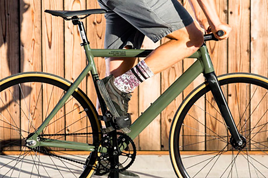 Bicicleta Fixie State Premium Black Label V2 Army Green 4