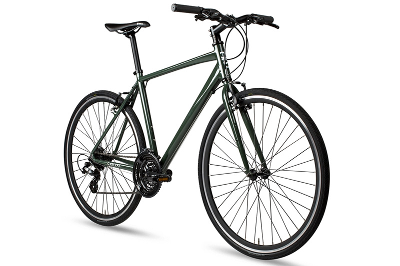 6KU Canvas Hybride Fiets - Deep Forest