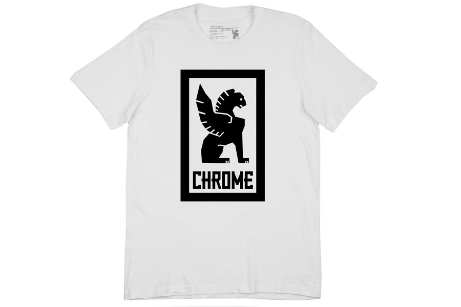 Chrome Large Lock Up T-Shirt - Wit/Zwart