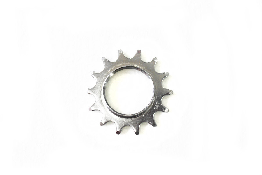 Fixed Tandwiel 14t met lockring - Zilver