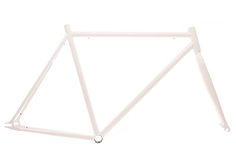 700c Fixie Frame - Wit