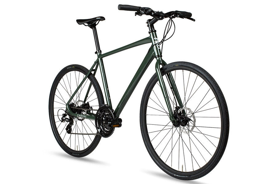 Bicicleta Híbrida 6KU Canvas Disc Deep Forest