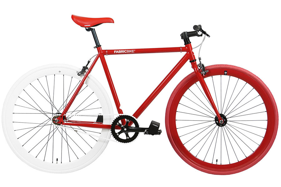 Bicicleta Fixie FabricBike Red & White 2.0