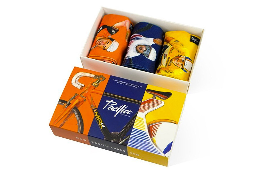 Pack 3 Calcetines Pacifico Cycling Legends - Caja Regalo