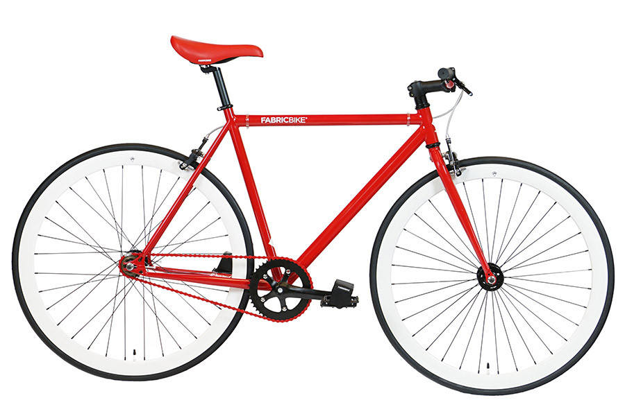 Bicicleta Fixie FabricBike Red & White