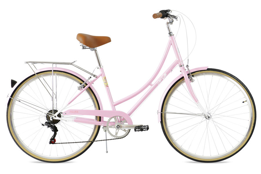 Bicicleta Paseo Mujer FabricBike Step-City 7V Pink