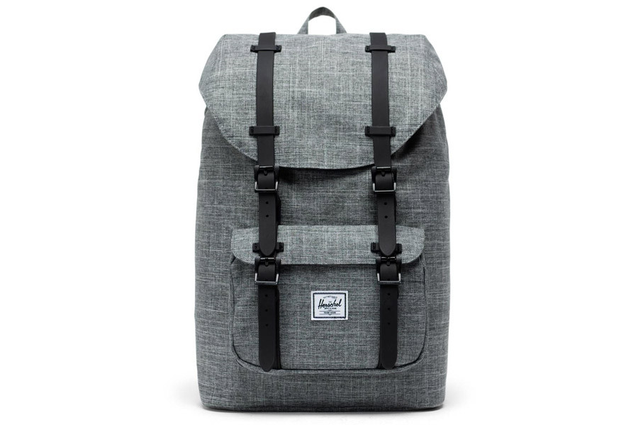 Mochila Herschel Little America Mid-Vol. Raven Crosshatch