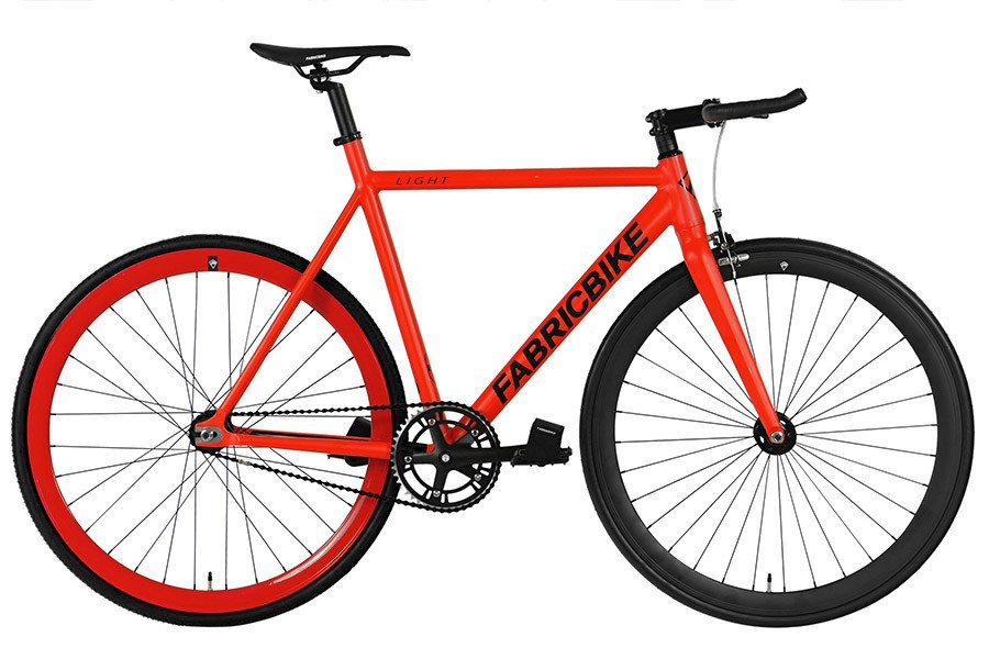 Bicicleta Fixie FabricBike Light Red & Black