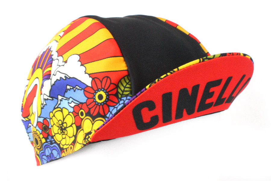 "NEW Cinelli /""Caleido/"" Cotton Cycling Cap ONE SIZE retro fixed track"