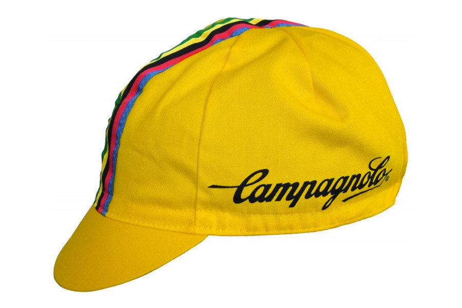 Buy Vintage Cycling Cap Campagnolo In Yellow Colour