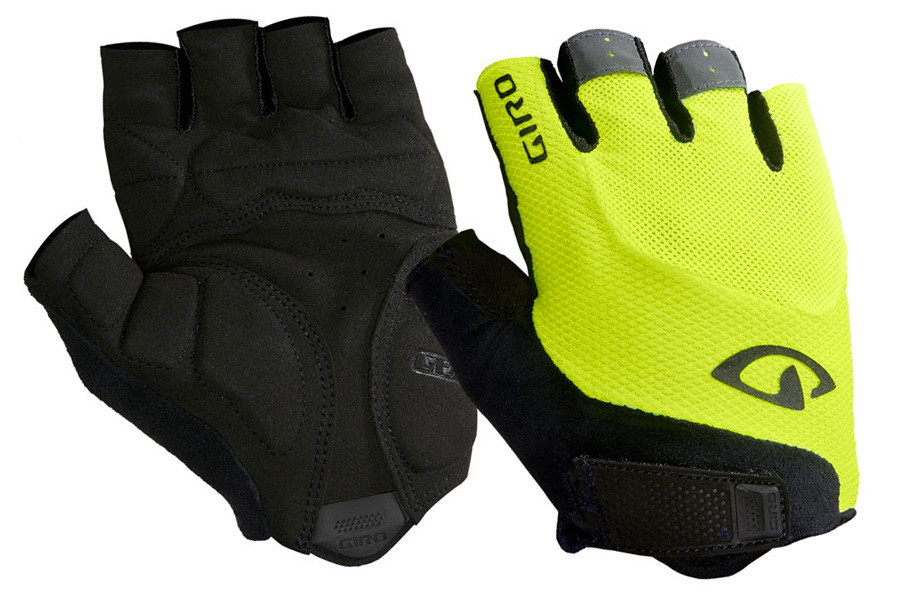 Giro Bravo Gel Cycling Gloves White Black