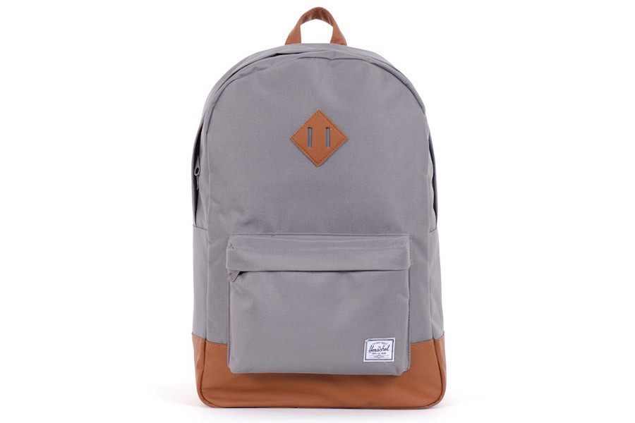b58d39e40ce Herschel Heritage Grey Tan Backpack