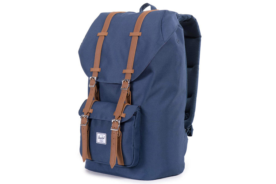 a831f7399be Buy Herschel Little America Backpack Navy Tan