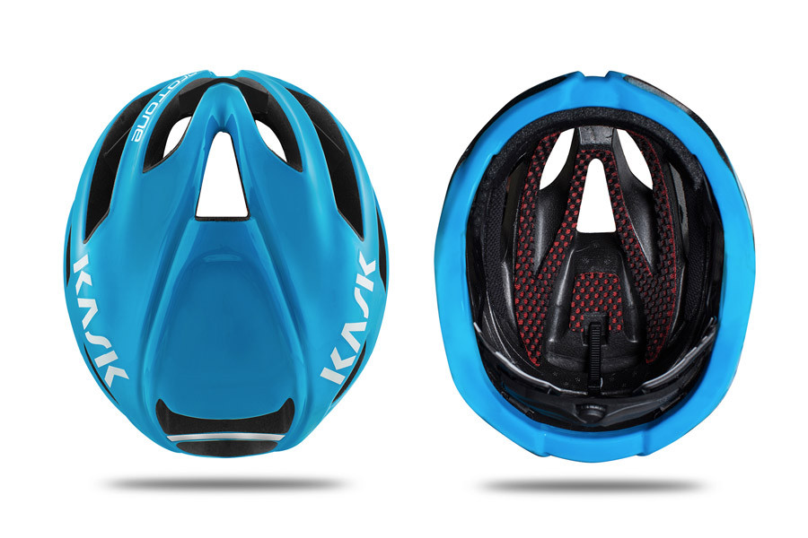 Kask Protone Helmet For Cyclists In White And Lime