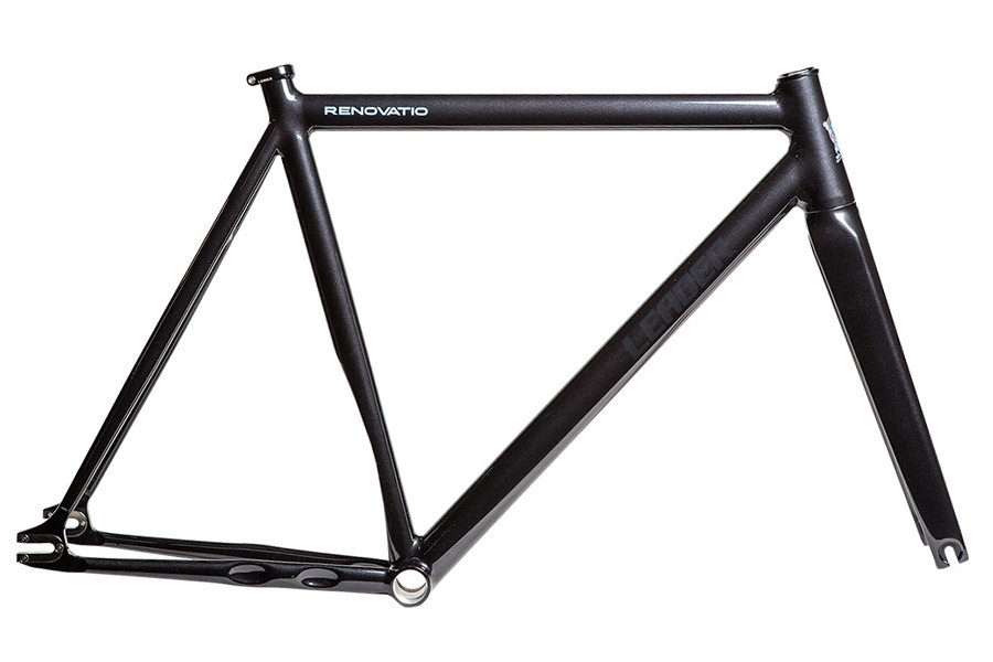 Santa Fixie. Buy Leader Renovatio Frameset in black color. Leader Frames
