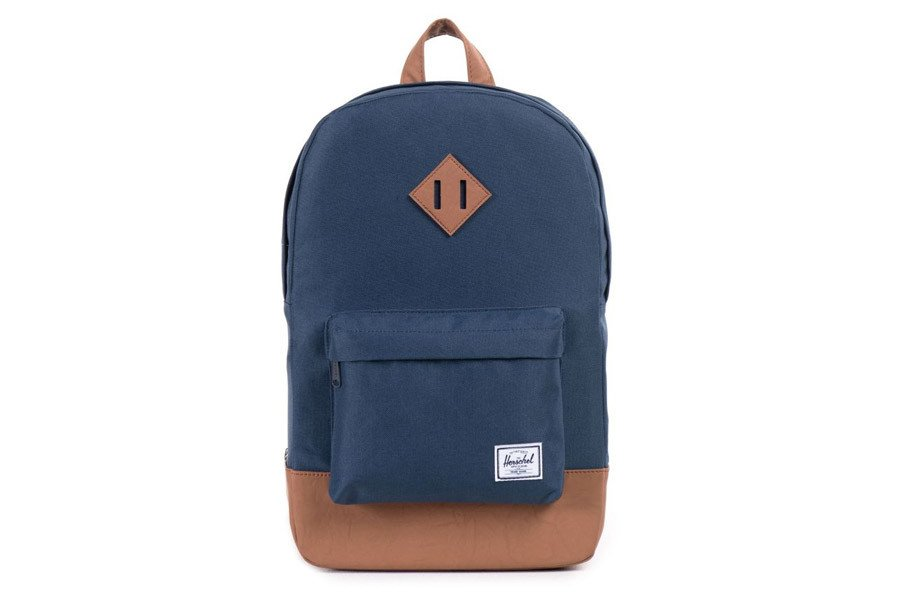 9c4820dd14c Herschel Heritage Navy Tan Mid-Vol Backpack