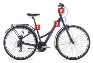 Bicicleta Paseo Orbea Comfort 20 Open Equipped