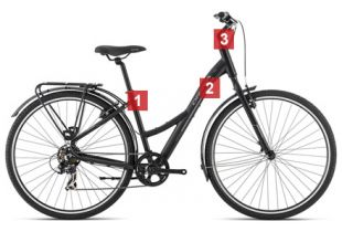 Bicicleta Paseo Orbea Comfort 30 Open Equipped
