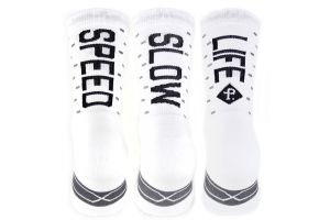 Calcetines Pacific and Co Speed/Slow Life V2.0 Blanco